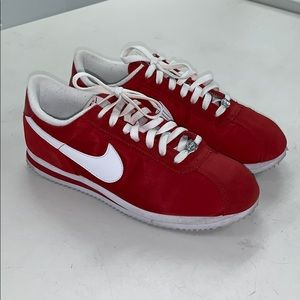 Red Nike Cortez - Nylon and Suede